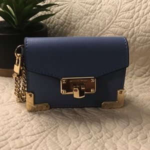 NWT Michael Kors Card holder with chain